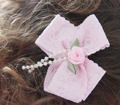 Baby & Girl Lace Bow Hair Clip - Clip01