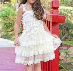 VINTAGE BABY TO GIRL LACE IVORY DRESS