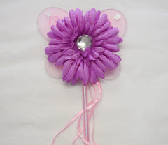 Baby pink, lilac or hot pink gerbera flower fairy wand. Wand02
