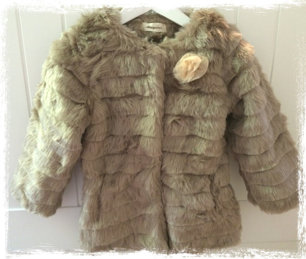 Winter warm faux fur jacket