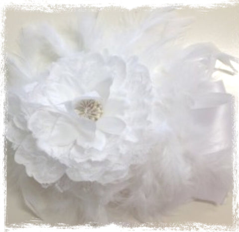 White rose feather sash