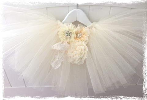 Vintage Baby & Girl Fluffy Floral Fairy Tutu Skirt