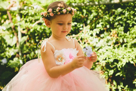Baby & Girl Floral Flower Girl Fairy Tutu Dress - TUFW26