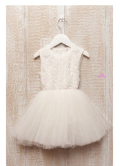 Baby & girl white or ivory flower girl dress Dress19