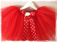 Baby & girl fluffy red fairy tutu skirt