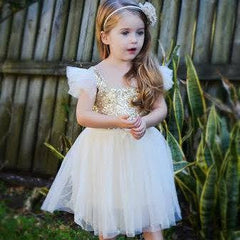 Ivory & gold sparkle dress
