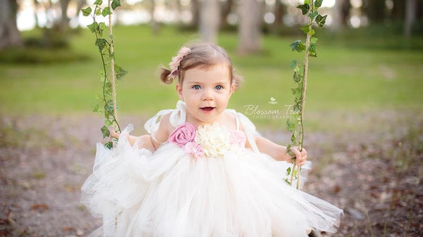 Baby & Girl Christening & Flower Girl Tutu dress - TUFW82