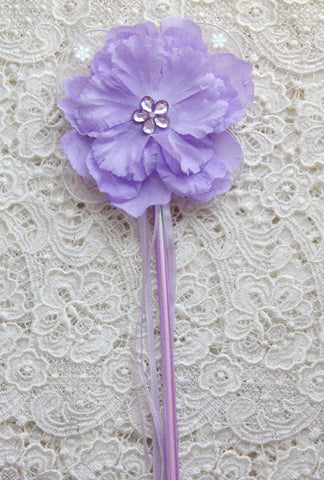 Lilac or purple peonie flower fairy wand. Wand04