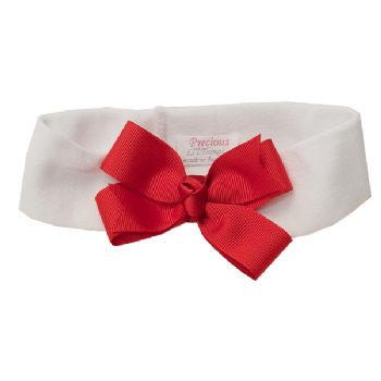 BABY TODDLER & GIRL RED BOW HEADBAND. BRGN06