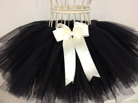 baby girl flower girl black tutu