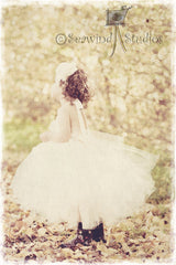 Baby & Girl Flower Girl Vintage Inspired Tutu Dress - TUFW08