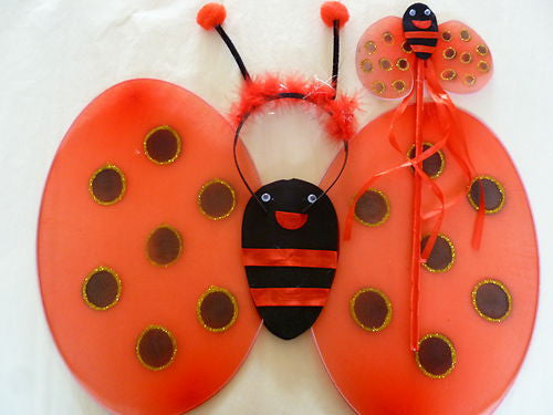 lady bird/lady bug wings, antenna, wand set. Wings08