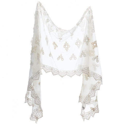 Cream Lace scarf/shawl
