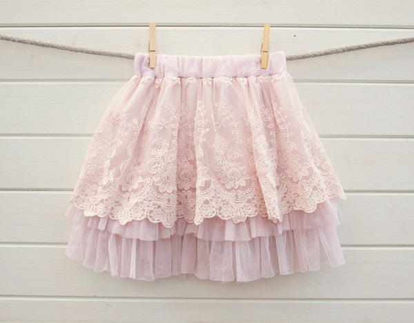 little girl vintage lace skirt