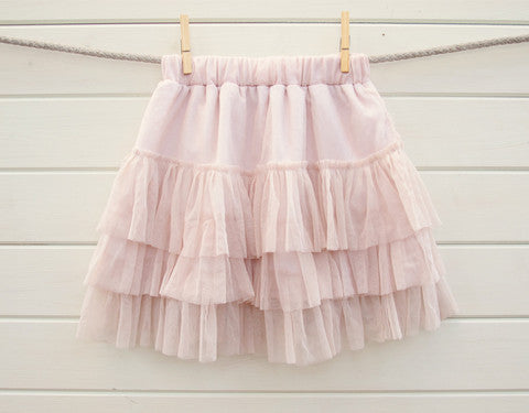 Vintage flower girl tutu skirt with or without brooch TUFW57