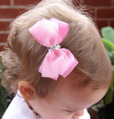 Baby & Girl Christening & Flower Girl Bow Hair Clip - Clip12