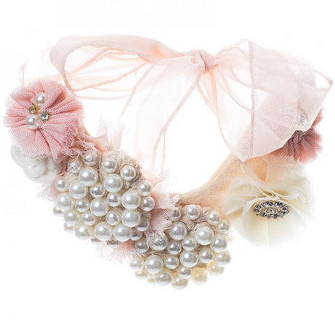Vintage pearl bling necklace. Neck01