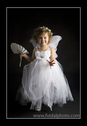 Baby & girl white or ivory floral flower girl christening tutu dress TUFW10