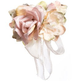 Rose posy clip pink
