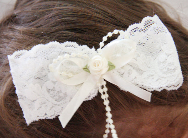 Baby & Girl Lace Bow Hair Clip - Clip02