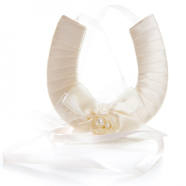 Cream Satin Wedding Horseshoe