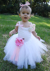 Baby & girl peonie flower girl tutu skirt