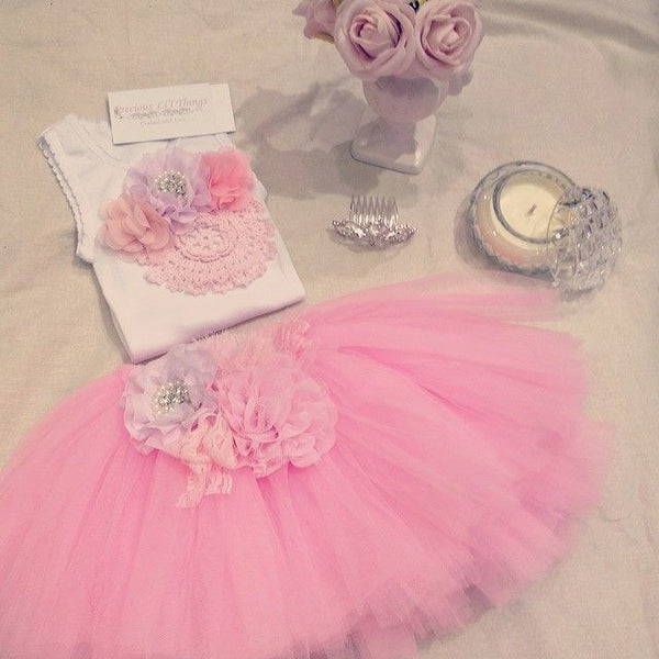 Baby & Girl Fluffy Floral Fairy Tutu Skirt TUFW99