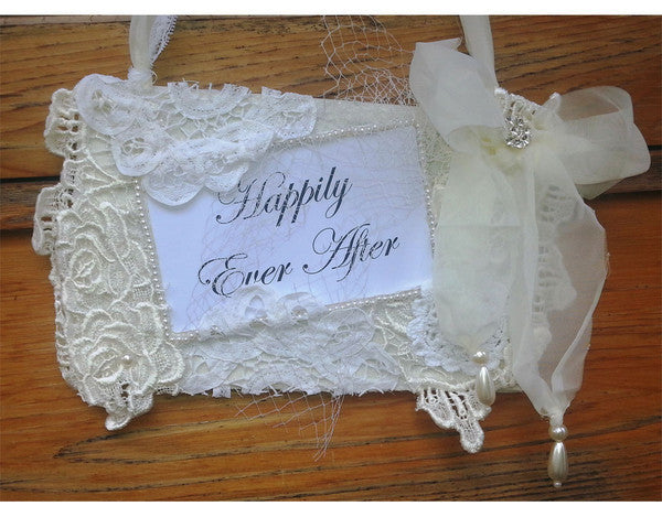 Lace wedding sign (Happily ever after)