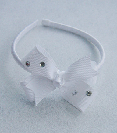 Baby, girl, lady white black or ivory christening flower girl bridal fascinator vintage lace bow headband