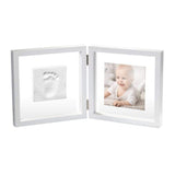 Baby Art Transparent with Clay Fotoramme med gipsavtryyk
