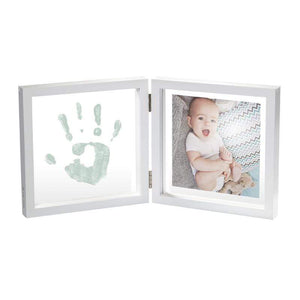 Baby Art Transparent with Print Fotoramme med gipsavtryyk