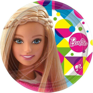 Barbie Papptallerkener 23cm - 8 stk - Shop4kids.no