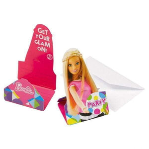 Barbie Party Invitasjoner - 8 stk - Shop4kids.no