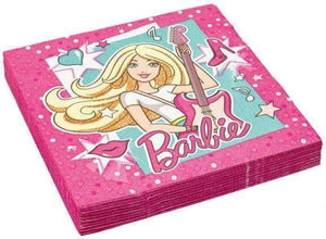 Barbie Servietter - 20 stk - Shop4kids.no
