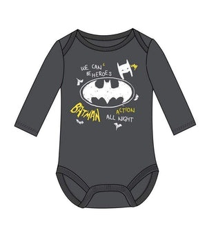 Batman Baby Body- Mørkegrå
