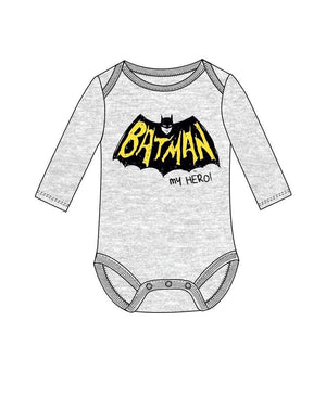 "Batman "" My hero"" Baby Body- Grå"