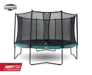 BERG Champion Airflow Trampoline 380cm med Sikkerhetsnett - Best i Test - Shop4kids.no