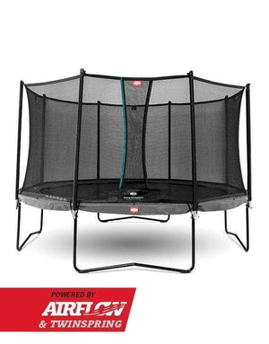 BERG Champion Airflow Trampoline 430cm Grå med Sikkerhetsnett - Best i Test - Shop4kids.no
