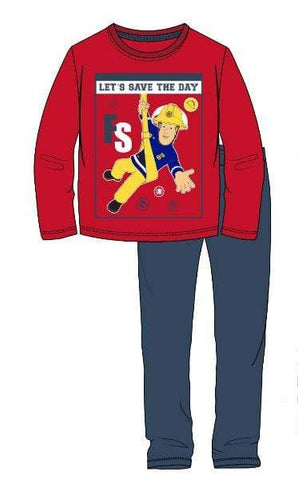 Brannmann Sam Pysjamas - Red/Navy