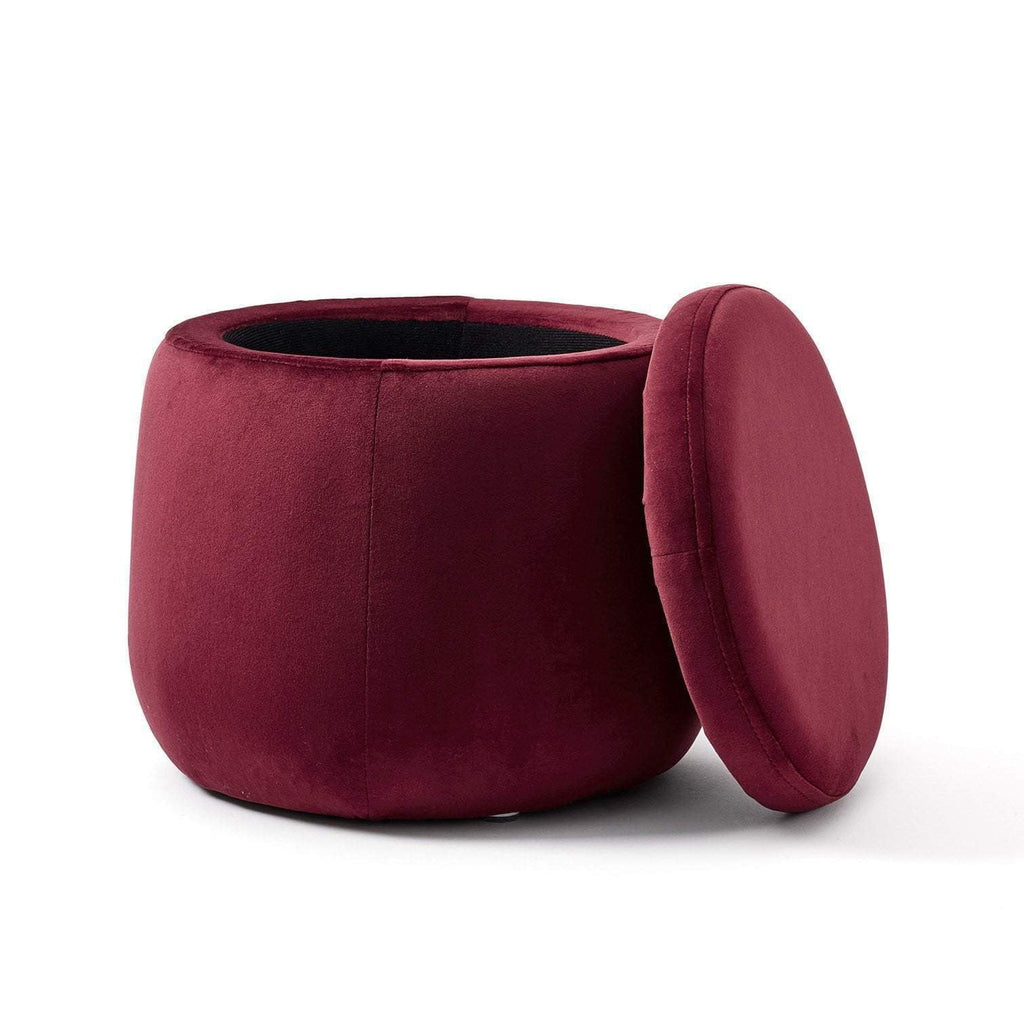 Kids Concept Oppbevaringspuff - Wine Red