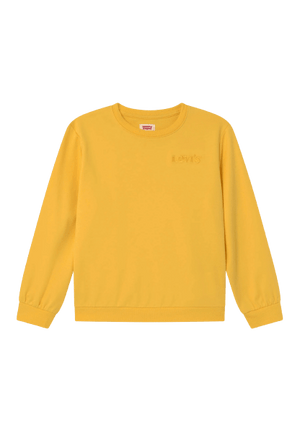 Levis Girls DROP SHOULDER CREW - Daffodil