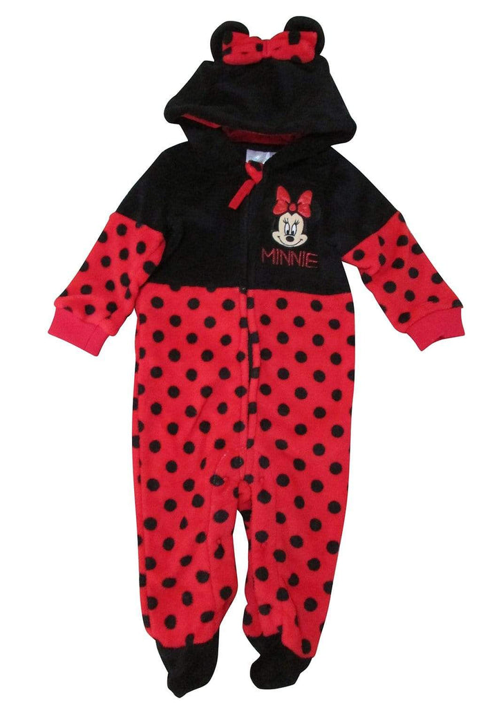 Minnie mus Fleece Jumpsuit - Onesie - Rød