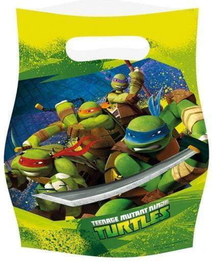 Ninja Turtles Godteposer - 6 stk