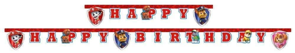 Paw Patrol Ready for Action Happy Birthday Banner