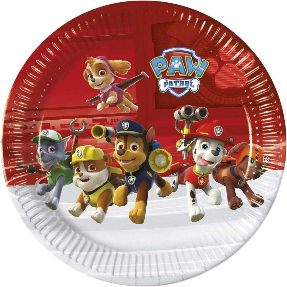 Paw Patrol Ready for Action Tallerken 8 stk - 23cm