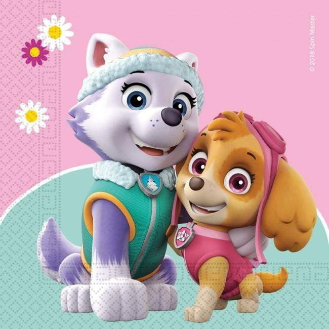 Paw Patrol Skye & Everest Servietter - 20 stk