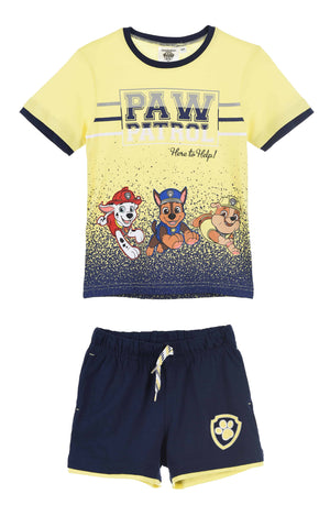 Shorts Paw Patrol Shorts og T-skjorte - Yellow