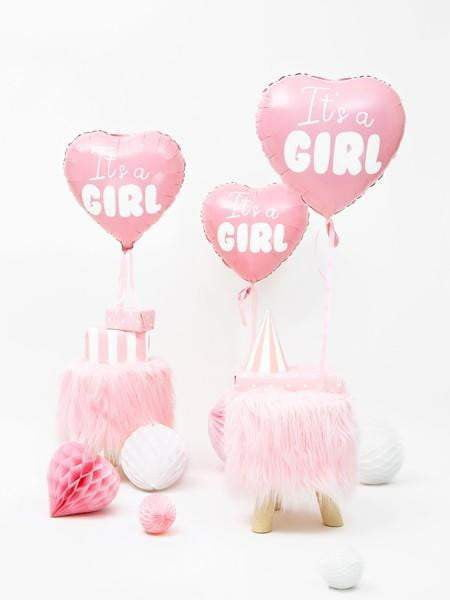 It's a Girl Folieballong Rosa - 45cm
