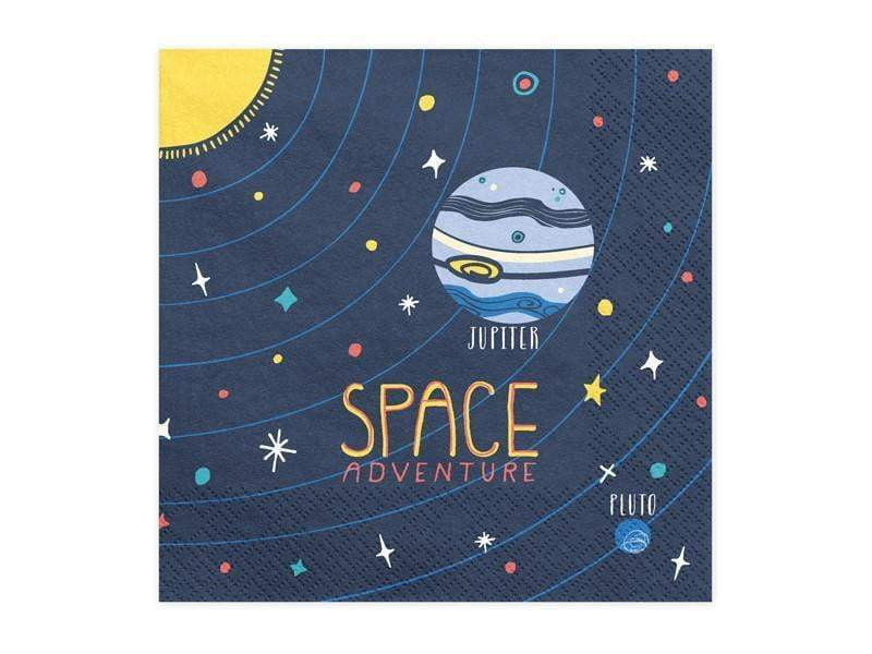 Space Party Servietter 33x33 cm - 20 stk