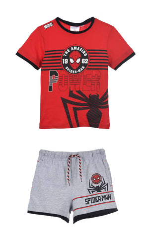 Shorts Spiderman Shorts og T-skjorte - Red/Grey